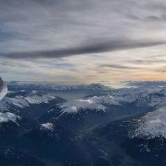 Flugwegposition um 14:56:07: Aufgenommen in der Nähe von Gemeinde Navis, Navis, Österreich in 4011 Meter
