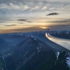 Flugwegposition um 16:06:07: Aufgenommen in der Nähe von Gemeinde Obsteig, Österreich in 2625 Meter