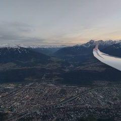 Flugwegposition um 16:21:26: Aufgenommen in der Nähe von Innsbruck, Österreich in 1738 Meter