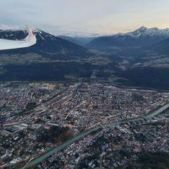 Flugwegposition um 16:26:47: Aufgenommen in der Nähe von Innsbruck, Österreich in 1512 Meter