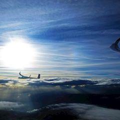 Flugwegposition um 14:51:19: Aufgenommen in der Nähe von Gressenberg, Österreich in 4508 Meter