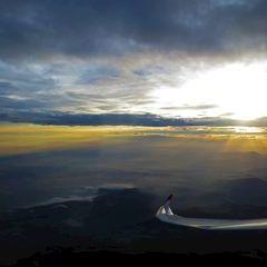 Flugwegposition um 15:32:48: Aufgenommen in der Nähe von Gemeinde Krottendorf, Österreich in 2482 Meter