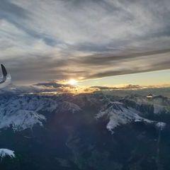 Flugwegposition um 15:51:56: Aufgenommen in der Nähe von Gemeinde Birgitz, Birgitz, Österreich in 3500 Meter
