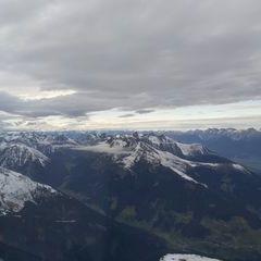 Flugwegposition um 14:44:01: Aufgenommen in der Nähe von Gemeinde Grinzens, Österreich in 3151 Meter