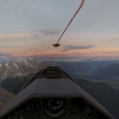 Flugwegposition um 16:12:19: Aufgenommen in der Nähe von Gemeinde Nassereith, Österreich in 2549 Meter