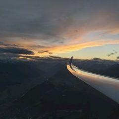Flugwegposition um 16:19:16: Aufgenommen in der Nähe von Gemeinde Telfs, Telfs, Österreich in 2179 Meter