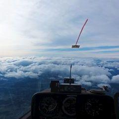 Flugwegposition um 12:02:59: Aufgenommen in der Nähe von Pack, Österreich in 5730 Meter