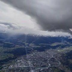 Flugwegposition um 10:29:41: Aufgenommen in der Nähe von Gemeinde Thaur, Thaur, Österreich in 2723 Meter