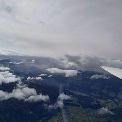 Flugwegposition um 10:35:59: Aufgenommen in der Nähe von Hall in Tirol, Österreich in 3616 Meter