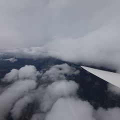 Flugwegposition um 10:37:46: Aufgenommen in der Nähe von Hall in Tirol, Österreich in 4073 Meter