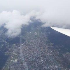 Flugwegposition um 11:02:58: Aufgenommen in der Nähe von Gemeinde Rum, Rum, Österreich in 3925 Meter