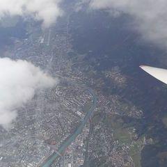 Flugwegposition um 11:04:21: Aufgenommen in der Nähe von Gemeinde Thaur, Thaur, Österreich in 3960 Meter