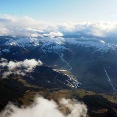 Flugwegposition um 13:29:52: Aufgenommen in der Nähe von Gemeinde Maria Alm am Steinernen Meer, 5761, Österreich in 3321 Meter