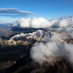 Flugwegposition um 13:55:33: Aufgenommen in der Nähe von Gemeinde Annaberg-Lungötz, Österreich in 3204 Meter