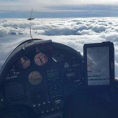 Flugwegposition um 11:54:11: Aufgenommen in der Nähe von Gemeinde Gutenstein, Österreich in 3176 Meter