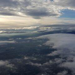 Flugwegposition um 12:49:24: Aufgenommen in der Nähe von Wiener Neustadt, Österreich in 1418 Meter