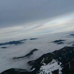 Flugwegposition um 13:51:16: Aufgenommen in der Nähe von Gemeinde Puchberg am Schneeberg, Österreich in 2073 Meter