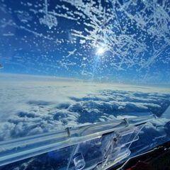 Flugwegposition um 11:54:59: Aufgenommen in der Nähe von Gemeinde Wildalpen, 8924, Österreich in 6038 Meter
