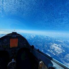Flugwegposition um 11:55:03: Aufgenommen in der Nähe von Gemeinde Wildalpen, 8924, Österreich in 6038 Meter