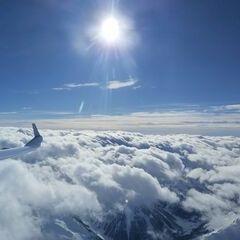 Flugwegposition um 10:55:44: Aufgenommen in der Nähe von Gemeinde Navis, Navis, Österreich in 4324 Meter