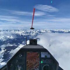 Flugwegposition um 11:08:23: Aufgenommen in der Nähe von Gemeinde Navis, Navis, Österreich in 4190 Meter