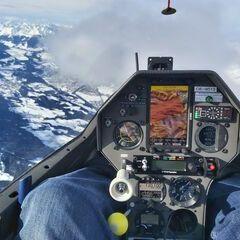 Flugwegposition um 11:23:19: Aufgenommen in der Nähe von Gemeinde Wattens, Wattens, Österreich in 4161 Meter