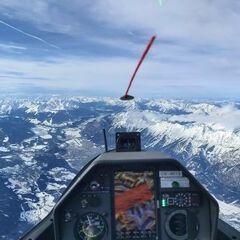 Flugwegposition um 11:42:13: Aufgenommen in der Nähe von Gemeinde Volders, Österreich in 4529 Meter