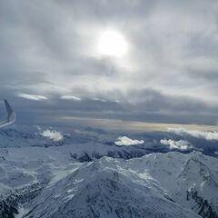 Flugwegposition um 12:39:53: Aufgenommen in der Nähe von Gemeinde Wattenberg, Österreich in 3478 Meter