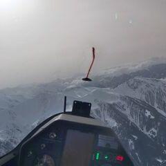 Flugwegposition um 11:05:07: Aufgenommen in der Nähe von Gemeinde Navis, Navis, Österreich in 2899 Meter