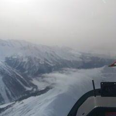 Flugwegposition um 11:18:26: Aufgenommen in der Nähe von Gemeinde Navis, Navis, Österreich in 2833 Meter