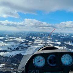 Flugwegposition um 13:17:16: Aufgenommen in der Nähe von Gemeinde Hofamt Priel, Hofamt Priel, Österreich in 1161 Meter