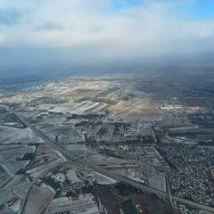Flugwegposition um 13:49:07: Aufgenommen in der Nähe von Gemeinde Bad Vöslau, Bad Vöslau, Österreich in 1055 Meter