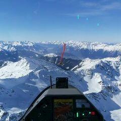 Flugwegposition um 13:06:18: Aufgenommen in der Nähe von Gemeinde Tulfes, Österreich in 3008 Meter