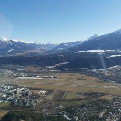 Flugwegposition um 13:47:32: Aufgenommen in der Nähe von Innsbruck, Österreich in 1053 Meter