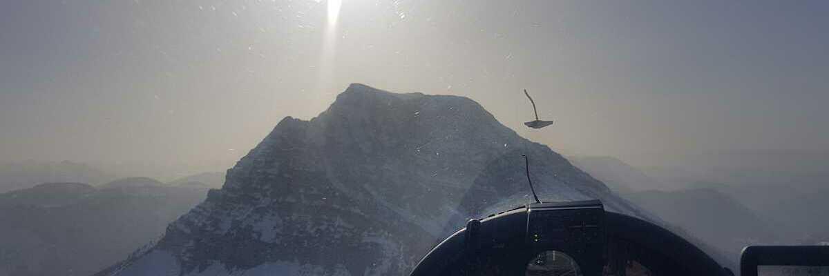 Flugwegposition um 14:24:49: Aufgenommen in der Nähe von Gaming, Österreich in 1550 Meter