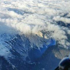Flugwegposition um 15:28:19: Aufgenommen in der Nähe von Kapellen, Österreich in 2701 Meter
