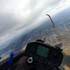 Flugwegposition um 10:07:54: Aufgenommen in der Nähe von Wiener Neustadt, Österreich in 1023 Meter