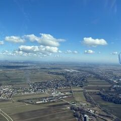 Flugwegposition um 09:26:13: Aufgenommen in der Nähe von Gemeinde Matzendorf-Hölles, Österreich in 578 Meter
