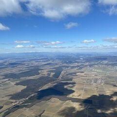 Flugwegposition um 11:43:56: Aufgenommen in der Nähe von Gemeinde Hannersdorf, Österreich in 1447 Meter