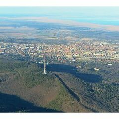 Flugwegposition um 15:36:53: Aufgenommen in der Nähe von Sopron–Fertődi, Ungarn in 802 Meter