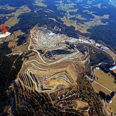 Flugwegposition um 13:25:00: Aufgenommen in der Nähe von Rabenwald, 8225, Österreich in 1926 Meter