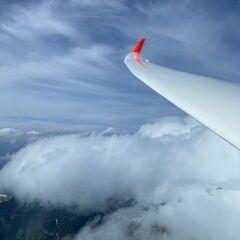 Flugwegposition um 12:32:55: Aufgenommen in der Nähe von Gemeinde St. Georgen im Lavanttal, St. Georgen im Lavanttal, Österreich in 2212 Meter