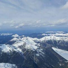 Flugwegposition um 13:46:54: Aufgenommen in der Nähe von Gemeinde Tarrenz, 6464 Tarrenz, Österreich in 3547 Meter