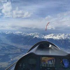 Flugwegposition um 14:31:25: Aufgenommen in der Nähe von Gemeinde Ellbögen, Österreich in 3061 Meter