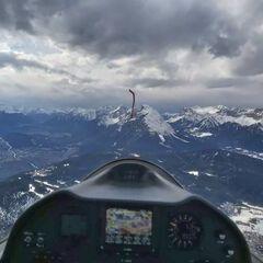 Flugwegposition um 14:51:38: Aufgenommen in der Nähe von Gemeinde Reith bei Seefeld, Österreich in 2535 Meter