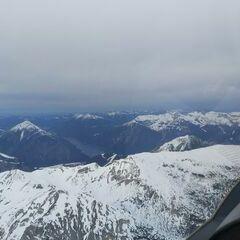 Flugwegposition um 15:08:09: Aufgenommen in der Nähe von Gemeinde Vomp, Österreich in 2718 Meter