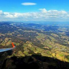Flugwegposition um 11:09:21: Aufgenommen in der Nähe von Deutschlandsberg, Österreich in 1723 Meter