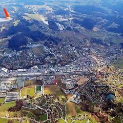 Flugwegposition um 11:12:08: Aufgenommen in der Nähe von Deutschlandsberg, Österreich in 1765 Meter