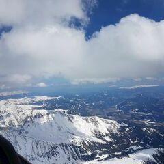 Flugwegposition um 12:53:43: Aufgenommen in der Nähe von Gemeinde Schöder, Österreich in 3355 Meter