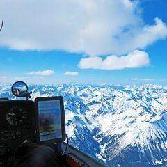 Flugwegposition um 13:08:41: Aufgenommen in der Nähe von Krakauhintermühlen, 8854, Österreich in 3261 Meter